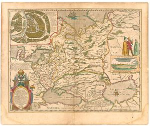 Grand Duchy of Moscow - Blaeu's map of Russia (1645), Moscovia is Moscow and the vicinities