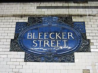 Broadway–Lafayette Street/Bleecker Street (New York City Subway) - Image: Bleecker Street IRT 001