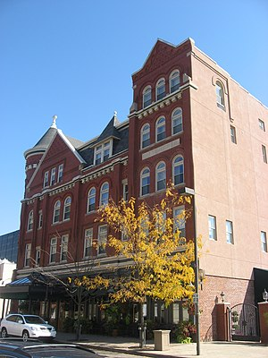 National Register of Historic Places listings in Wood County, West Virginia - Image: Blennerhassett Hotel