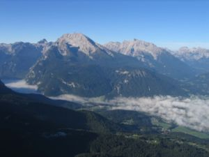 Berchtesgaden Alps - View of the Watzmann and Hochkalter from the Kehlsteinhaus