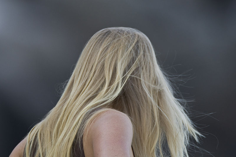 File:Blond long-haired young lady woman.jpg