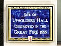 Blue Plaque marking site of Upholders' Hall, London EC4 - geograph.org.uk - 1092830.jpg