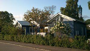 Aarhus V - Image: Blue wooden house
