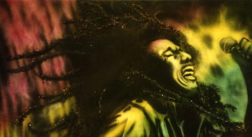 Bob Marley Live - Painting by Steve Brogdon1992