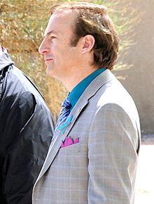 Bob Odenkirk as Saul Goodman during shooting Breaking Bad.jpg