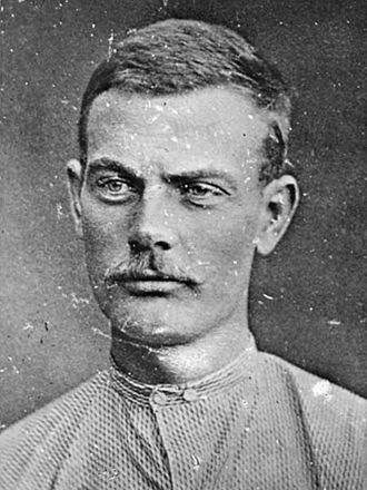 Bob Younger - Injured Bob Younger after his capture in 1876