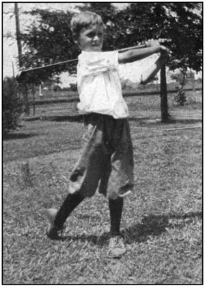 East Lake Golf Club - Bobby Jones age 9 shown playing golf at his home course at East Lake.