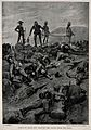 Boer War; sorting the dead from the wounded at Spion Kop. Pr Wellcome V0015513EL.jpg