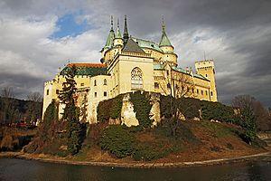 Bojnice - Bojnice castle, as seen from the castle parc.
