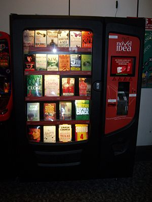 Book vending machine at Gatwick Airport, Londo...