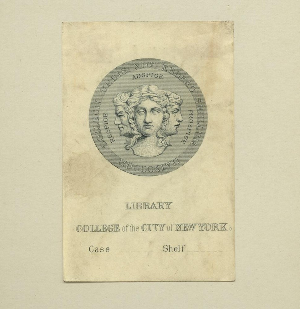Bookplate-College of the City of New York