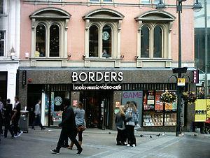 Borders (UK) - Borders on Briggate in Leeds, West Yorkshire