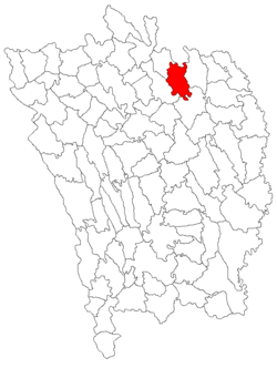 Location of Boțești