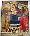 Bottega del ghirlandaio, madonna col bambino, santi e il donatore roberto folchi, 1490-1510 ca. 02.JPG