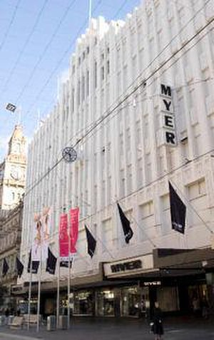 Myer - MYER's national flagship store in Melbourne's Bourke Street Mall