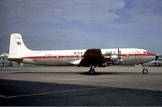 Braathens - Douglas DC-6 in 1971