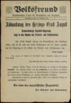 Braunschweig Abdankung Ernst August Volksfreund-Schlagzeile 8 November 1918.png