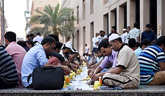 Intermittent fasting - The Ramadan fast is broken after sundown in Dubai, UAE.