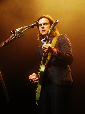 "Weezer (2016 album) - Rhythm guitarist Brian Bell (pictured) is credited with co-writing ""L.A. Girlz"" and ""Endless Bummer""."