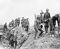 Bringing up bombs near Bernafay Wood during the Battle of the Somme, July 1916. Q4052.jpg