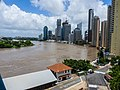 Brisbane River Town Reach in flood from Story Bridge Fortitude Valley P1090887.jpg