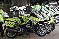 Bristol - police motorbikes for the 2018 Tour of Britain.JPG