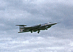 Bristol 188 - The first prototype Bristol 188 landing at Farnborough after giving a public display at the 1962 SBAC Show