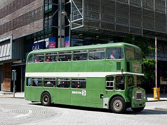 Bristol Omnibus Company - Preserved Bristol FLF in Bristol in May 2011