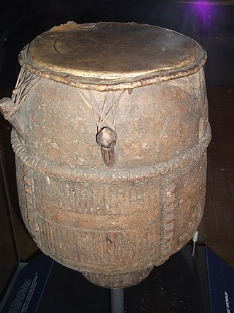 Akan Drum - On display in the British Museum