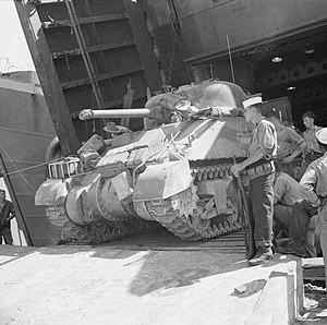 40th (The King's) Royal Tank Regiment - Image: British Sherman tank Bizerta Sept 1943 IWM NA 6653
