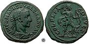Alexander Severus coin celebrating the Flavian colony of Deultum