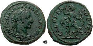 Bronze-Alexander Severus-Deultum AE25 Moushmov 3583