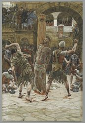 James Tissot: The Scourging on the Front