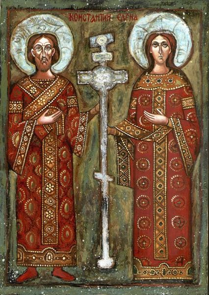 Constantine and Helen with the True Cross