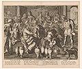 Bruiloft te Kana Solatium piorum conjugum christus (titel op object), RP-P-OB-103.834.jpg