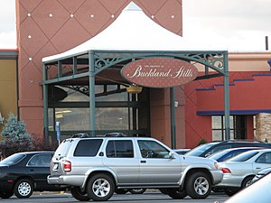 The Shoppes at Buckland Hills - The Old Front of the Mall it was painted black.