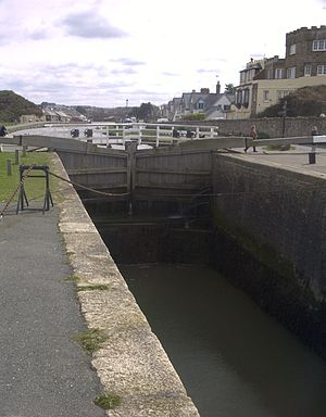 Bude Canal - The sea lock on Bude Canal