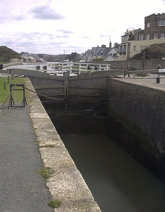 Bude - The sea lock on Bude Canal