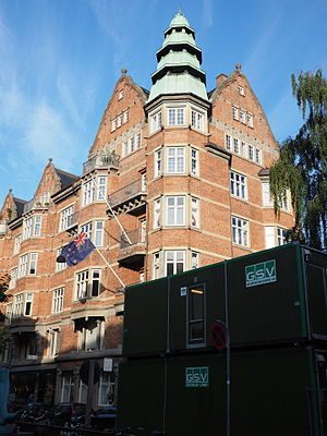 Denmark–New Zealand relations - The building which houses the honorary New Zealand Consulate General in Copenhagen in 2015