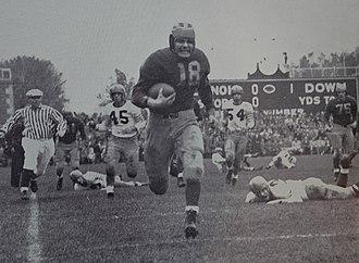 Illinois–Michigan football series - Bump Elliott runs 74 yards for a touchdown against Illinois.