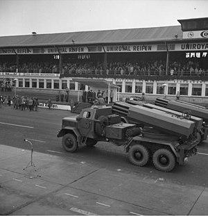 Light Artillery Rocket System - Image: Bundesarchiv B 145 Bild F029231 0003, Nürburgring, Bundeswehrparade zum NATO Jubiläum