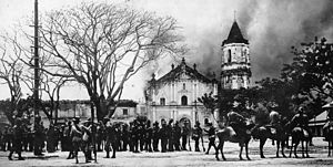 Malolos Cathedral - Burning of the Malolos Cathedral in 1899