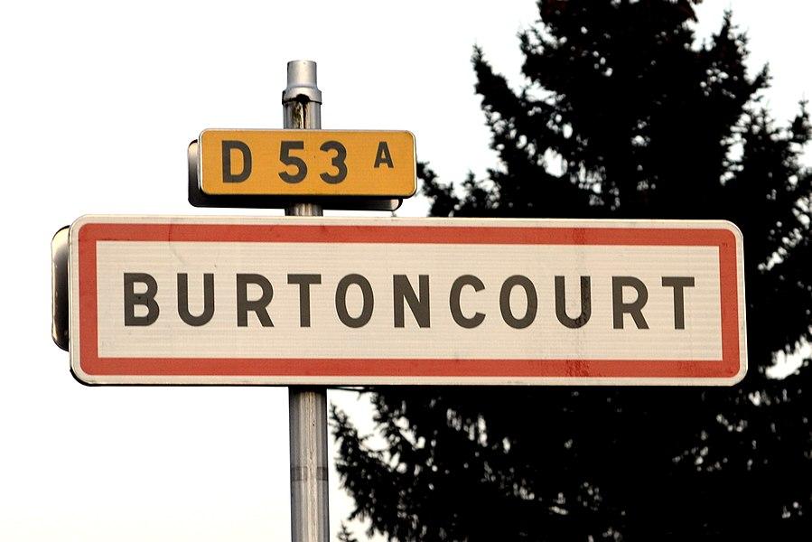 Burtoncourt, panneau d'entrée .