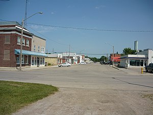 Davidson, Saskatchewan - Davidson's business district Washington Avenue