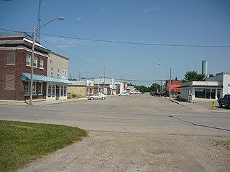 Davidson, Saskatchewan - Davidson's business district Washington Avenue