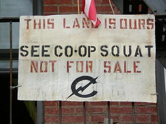 Punk house - A sign posted at the C-Squat punk house