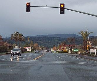 Sonoma County, California - State Route 12 in Sonoma (Broadway)