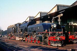 4-8-2+2-8-4 - CFB Class 10C at Nova Lisboa