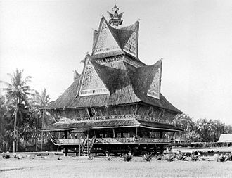 Aru Kingdom - An imposing traditional Karo house. The people of the Aru Kingdom are believed have been from the same stock as the Karo people of Tanah Karo