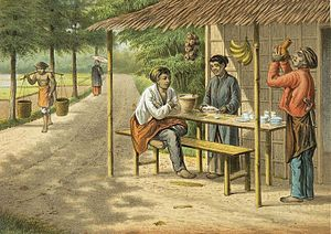 Warung - A 19th century image of warung during colonial period